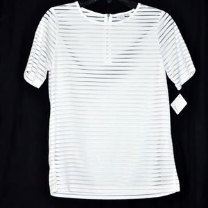 Women's Tee Sheer Stripe by Halogen size XS NWT